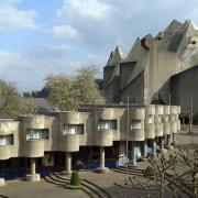 Directed by Maurizius Staerkle Drux - Film: Concrete architecture, building, tourist attraction, black