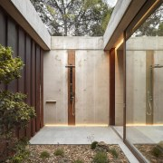 Architect: Ramón Esteve Estudio de Arquitectura architecture, backyard, courtyard, daylighting, facade, home, house, property, real estate, siding, window, gray, brown
