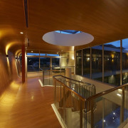 Internal hallway - B House 01 - architecture architecture, ceiling, daylighting, floor, flooring, house, interior design, lighting, real estate, wood, brown