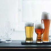 Quality glassware and crystal from The Studio of beer, beer glass, drink, glass, pint glass, product design, white