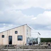 Architect: Sigured Larsen barn, cloud, home, house, shed, sky, white