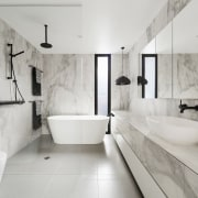 LSA Architects - TIDA AUS 2017 – Architect-designed architecture, bathroom, floor, flooring, home, interior design, plumbing fixture, product design, room, tap, tile, gray
