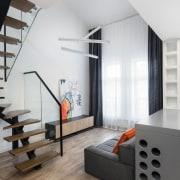 Architect: Martin ArchitectsPhotography by Alexander Kondrianenko architecture, floor, interior design, living room, loft, product design, wall, white