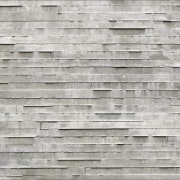The layered concrete wall certainly reflects the 'Two brick, brickwork, plank, stone wall, texture, wall, wood, gray