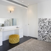 Architect: Shachar-Rozenfeld architectsPhotography by Shai Epstein bathroom, floor, flooring, home, interior design, property, room, tile, wall, white