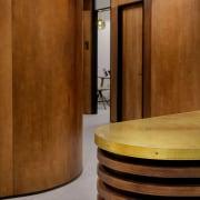 Finalist in Interior Innovation (Category 6) – Shortland floor, flooring, furniture, interior design, lobby, table, wall, brown