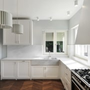 Architect: Tisselli Studio ArchitettiPhotography by Filippo Tisselli cabinetry, countertop, cuisine classique, daylighting, floor, home, interior design, kitchen, property, real estate, room, window, gray