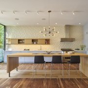 Architect: Schwartz and Architecture: SaAPhotography by Bruce architecture, ceiling, countertop, floor, flooring, hardwood, house, interior design, interior designer, kitchen, laminate flooring, room, wood flooring, gray