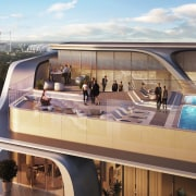 Mayfair Residential Tower – Zaha Hadid Architects boat, vehicle, yacht