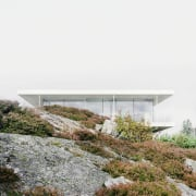 This natural landscape actually used to be part architecture, house, white