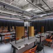 H Academy – Shi-Chieh Lu/CJ Studio - H factory, office, gray, black