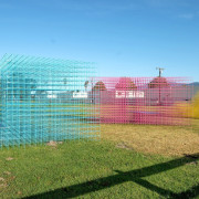 Designed by SPORTS fence, grass, land lot, outdoor structure, property, real estate, structure, teal