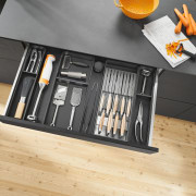 Blum New Zealand furniture, tool, orange, gray, black