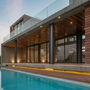 Colima home/Di Frenna Arquitectos architecture, estate, facade, home, house, property, real estate, swimming pool, brown, gray