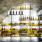 This new whiskey bar takes advantage of a brown, white