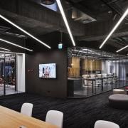 H Academy – Shi-Chieh Lu/CJ Studio - H ceiling, interior design, black