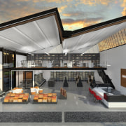 Calder Stewart developed this project using an adaptable architecture, house, interior design, real estate, gray