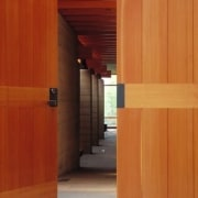 Architect: Cutler Anderson Architects architecture, cabinetry, door, floor, hardwood, interior design, plywood, property, wall, wood, wood flooring, wood stain, red, orange