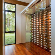 This wine storage area is almost set up ceiling, door, floor, flooring, hardwood, home, house, interior design, laminate flooring, real estate, wall, window, wood, wood flooring, wood stain, brown