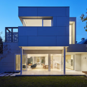 The architects took every opportunity to maximise natural architecture, building, elevation, estate, facade, home, house, property, real estate, residential area, window, blue