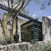 Architect: Central de Proyectos SCP architecture, building, facade, home, house, property, real estate, gray, black