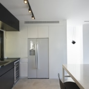 Another view of the kitchen architecture, countertop, floor, house, interior design, kitchen, real estate, gray, white