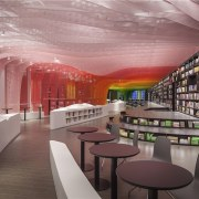 A new take on the bookstore - A institution, interior design, gray