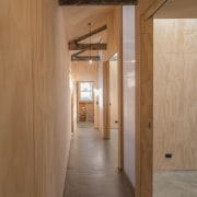 Architect: Steffen Welsch ArchitectsPhotography by Wolf-Peter architecture, ceiling, daylighting, floor, flooring, hardwood, interior design, loft, plywood, wall, wood, wood flooring, brown