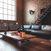 They beautifully envelop any surface couch, floor, flooring, furniture, hardwood, interior design, laminate flooring, living room, loft, room, table, wall, wood, wood flooring, black
