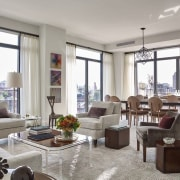 Jon Bon Jovi's new apartment in NYC – apartment, home, interior design, living room, penthouse apartment, property, real estate, room, window, window treatment, gray