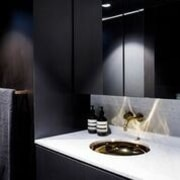 Architect: Architect Prinea - X - bathroom | bathroom, countertop, interior design, light fixture, lighting, product design, sink, tap, black