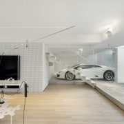 Understandably, the homeowner wanted to be able to automotive design, car, executive car, floor, house, interior design, luxury vehicle, product design, vehicle door, gray