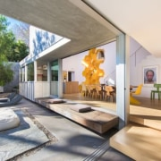 Tobey Maguire's new West Hollywood home - Tobey architecture, ceiling, estate, house, interior design, property, real estate, white, gray