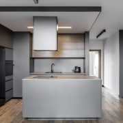 Architect: MetaformaPhotography by Krzysztof Strażyński cabinetry, countertop, floor, home appliance, interior design, kitchen, product design, gray