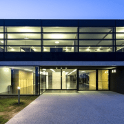 The new Faber headquarters designed by GEZA - architecture, building, commercial building, corporate headquarters, estate, facade, headquarters, home, house, property, real estate, blue