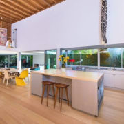 Tobey Maguire's new West Hollywood home - Tobey countertop, house, interior design, kitchen, real estate, table, white, orange