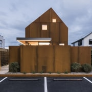 Mitchell Coll of Coll Architecture for Madras Street architecture, building, elevation, facade, home, house, property, real estate, residential area, roof, teal, brown