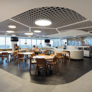 icare – dwp | design worldwide partnership - ceiling, interior design, restaurant, gray