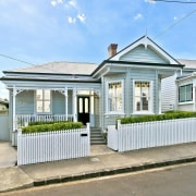 Architect: Allan McIntosh of Buildology Ltd cottage, elevation, estate, facade, home, house, neighbourhood, property, real estate, residential area, white