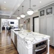 Original story from Trulia countertop, interior design, kitchen, real estate, room, gray, white