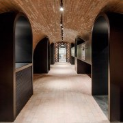 Certainly one of the more interesting spaces - arch, architecture, interior design, black
