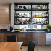 Loft Bar - Tim Street Porter - Client cabinetry, countertop, interior design, kitchen, gray