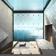 Casa Brutale: Images from LAAV architecture, daylighting, glass, house, interior design, property, real estate, white, gray