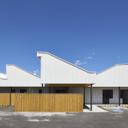 Tom Fisher House - Tom Fisher House - architecture, building, commercial building, corporate headquarters, daylighting, elevation, facade, home, house, property, real estate, residential area, roof, sky, blue