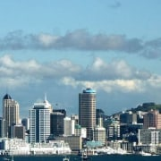 The Auckland skyline - The Auckland skyline - building, city, cityscape, cloud, daytime, downtown, metropolis, metropolitan area, sky, skyline, skyscraper, tower, tower block, urban area, teal