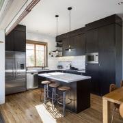 TIDA NZ 2017 – Designer kitchen entrant – cabinetry, countertop, cuisine classique, floor, interior design, kitchen, wood flooring, white