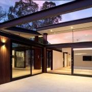 Architect: Alexandra Buchanan ArchitecturePhotography by Debra McFadzean architecture, estate, facade, home, house, interior design, lighting, property, real estate, roof, window, black