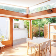 Architect: Day Bukh ArchitectsPhotography by Katherine Lu architecture, backyard, balcony, daylighting, estate, home, house, interior design, outdoor structure, property, real estate, roof, window, wood, white