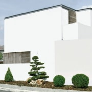 Architect: Tisselli Studio architecture, building, facade, home, house, property, real estate, residential area, window, white, gray