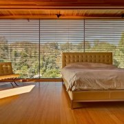 Architect: æ ArchitecturePhotography by Juergen Nogai architecture, bed frame, bedroom, ceiling, curtain, estate, floor, flooring, hardwood, home, interior design, property, real estate, room, suite, wall, window, window covering, window treatment, wood, wood flooring, brown
